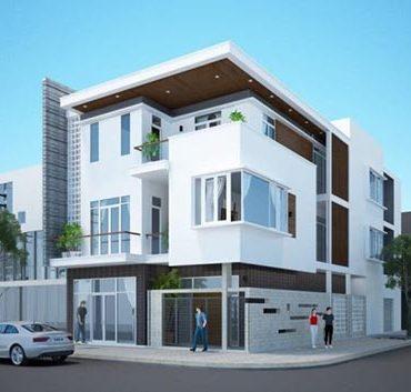 Thiết kế nhà phố lô góc