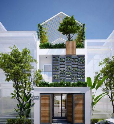 Thiết kế nhà phố mặt tiền đẹp